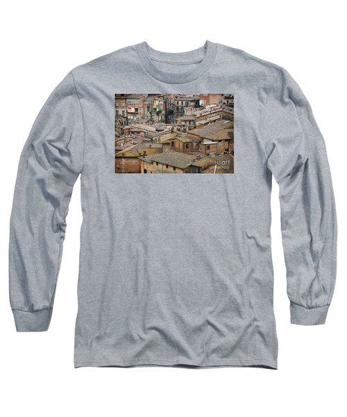Siena Colored Roofs And Walls In Aerial View Long Sleeve T-Shirt