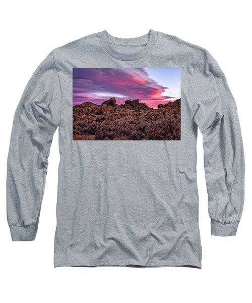 Sierra Clouds At Sunset Long Sleeve T-Shirt