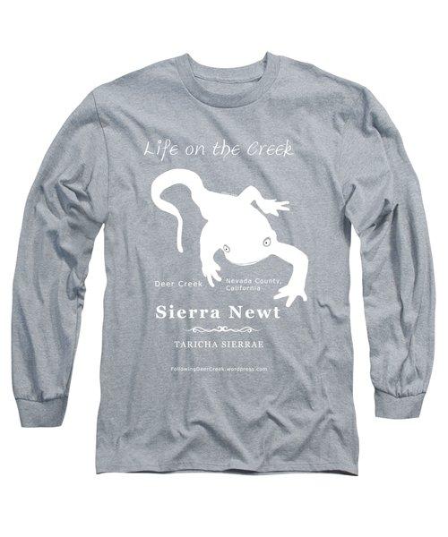 Sierra Newt - White Long Sleeve T-Shirt
