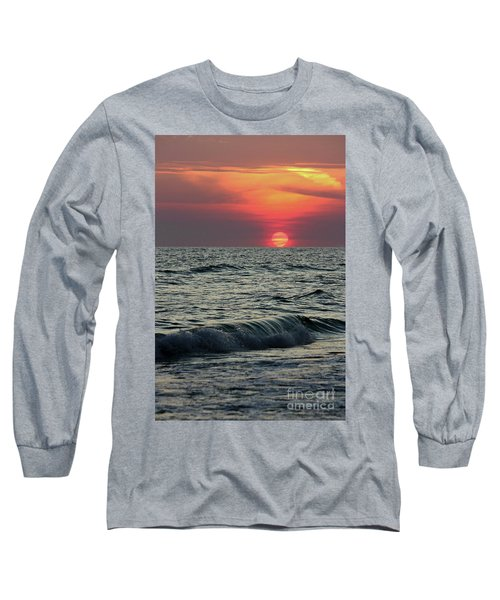 Long Sleeve T-Shirt featuring the photograph Siesta Key Sunset by Terri Mills