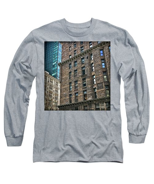 Long Sleeve T-Shirt featuring the photograph Sights In New York City - Old And New by Walt Foegelle