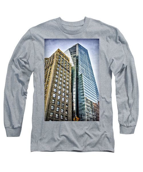 Long Sleeve T-Shirt featuring the photograph Sights In New York City - Skyscrapers by Walt Foegelle