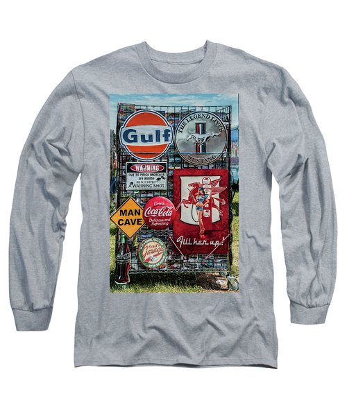 Long Sleeve T-Shirt featuring the photograph Sign Rack by Trey Foerster