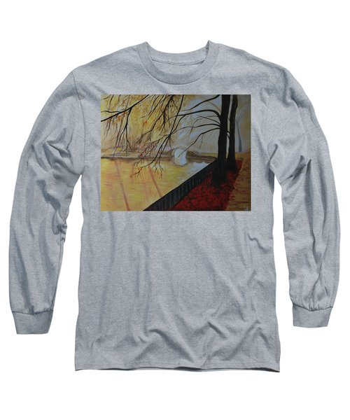 Long Sleeve T-Shirt featuring the painting Silence by Leslie Allen