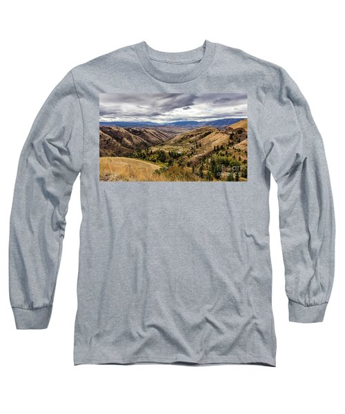 Silence Of Whitebird Canyon Idaho Journey Landscape Photography By Kaylyn Franks  Long Sleeve T-Shirt