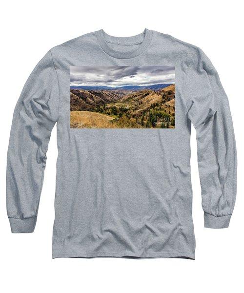 Silence Of Whitebird Canyon Idaho Journey Landscape Photography By Kaylyn Franks  Long Sleeve T-Shirt