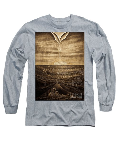 Silent Echo Beige Long Sleeve T-Shirt