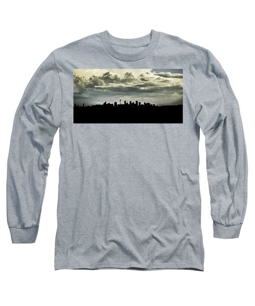 Long Sleeve T-Shirt featuring the photograph Silhouette Of Sydney by Chris Cousins