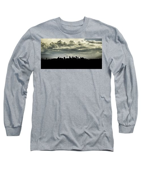 Silhouette Of Sydney Long Sleeve T-Shirt