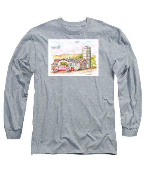 Silo In Los Olivos, California Long Sleeve T-Shirt