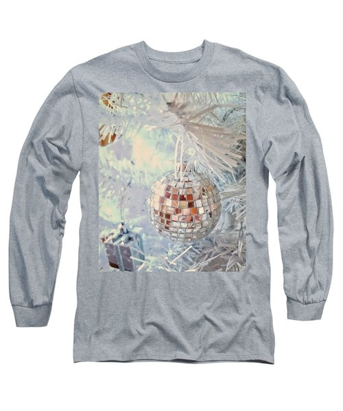 Silver And White Christmas Long Sleeve T-Shirt