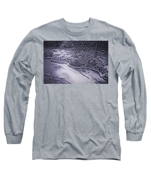 Silver Brook In Winter Long Sleeve T-Shirt