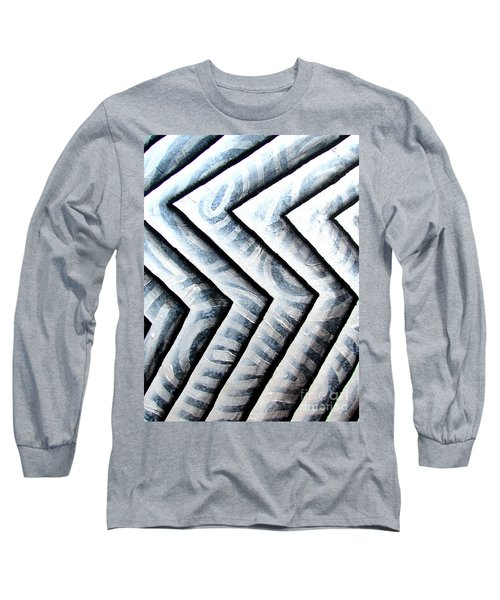 Silver Glass Waves Study 1  Long Sleeve T-Shirt by Luke Galutia