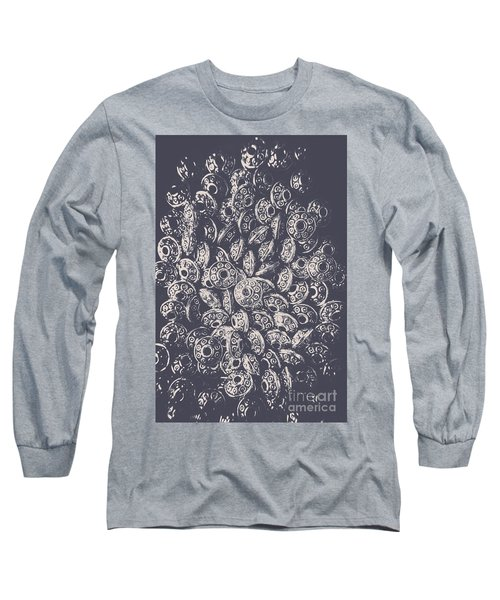 Silver Saucers From Outer Space Long Sleeve T-Shirt