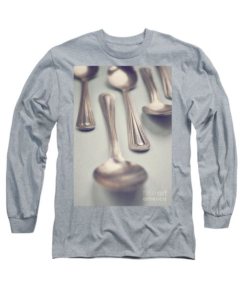 Long Sleeve T-Shirt featuring the photograph Silver Spoons by Lyn Randle