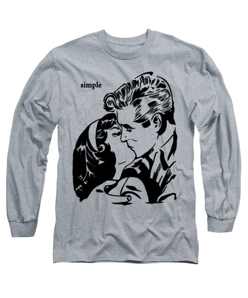 Simple 2 Long Sleeve T-Shirt by Tom Fedro - Fidostudio