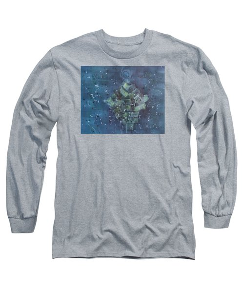Simpleness Is Happiness Long Sleeve T-Shirt by Min Zou