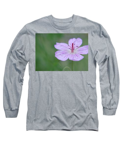 Simplicity Of A Flower Long Sleeve T-Shirt