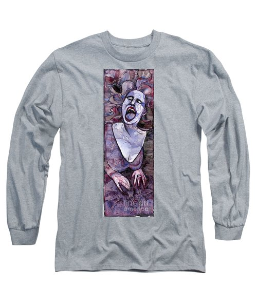Singing Lady-rock And Roll Long Sleeve T-Shirt