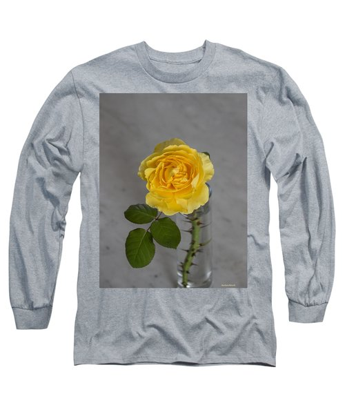 Single Yellow Rose With Thorns Long Sleeve T-Shirt