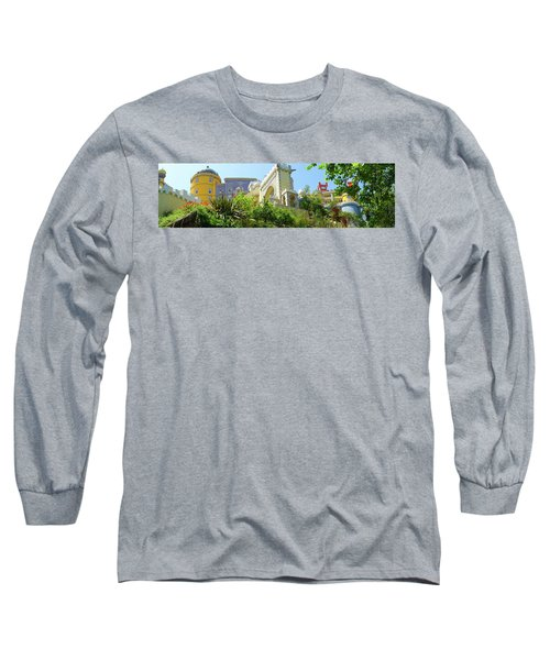 Long Sleeve T-Shirt featuring the photograph Sintra Castle by Patricia Schaefer