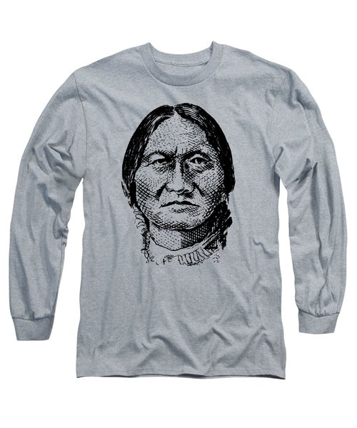 Sitting Bull Graphic Long Sleeve T-Shirt by War Is Hell Store