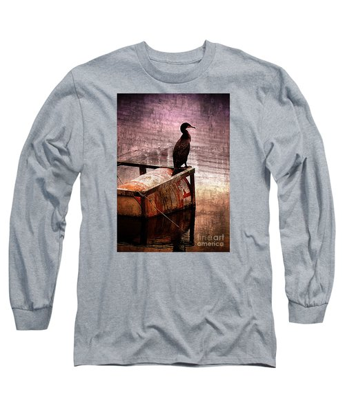 Sitting On The Dock Of The Bay Long Sleeve T-Shirt by Clare Bevan