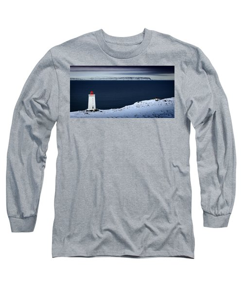 Skardsviti Lighthouse, Iceland Long Sleeve T-Shirt