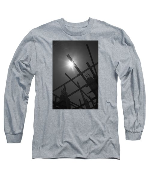 Long Sleeve T-Shirt featuring the photograph Skeleton  Time by Jez C Self