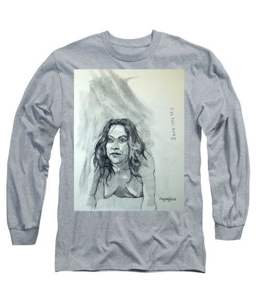 Sketch For Sera.10.01 Long Sleeve T-Shirt by Ray Agius