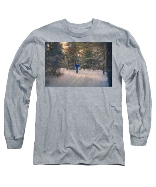 Skiing Borderland In Afternoon Light Long Sleeve T-Shirt