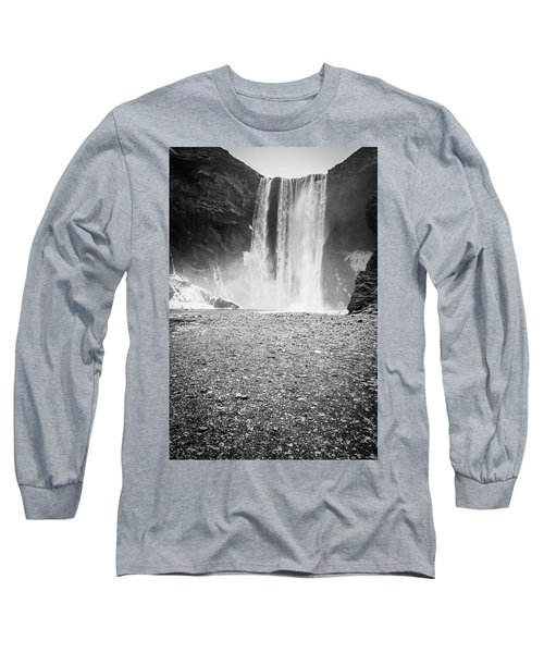 Skogafoss In Winter Long Sleeve T-Shirt