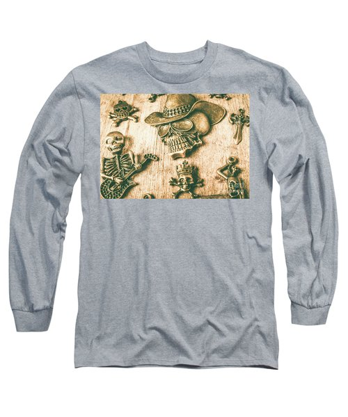 Skulls And Pieces Long Sleeve T-Shirt