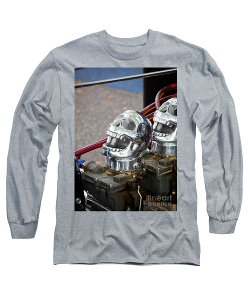 Long Sleeve T-Shirt featuring the photograph Skully by Chris Dutton