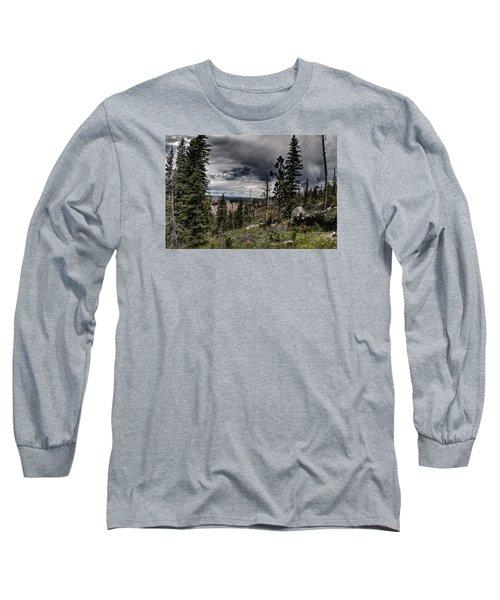 Long Sleeve T-Shirt featuring the photograph Sky-high by Deborah Klubertanz