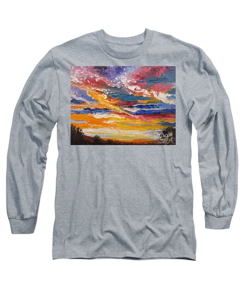 Long Sleeve T-Shirt featuring the painting Sky In The Morning by Sigrid Tune