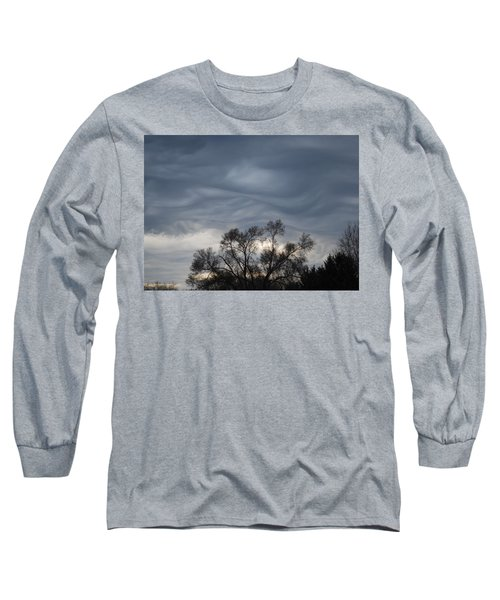 Long Sleeve T-Shirt featuring the photograph Sky Of Ribbons by Ramona Whiteaker