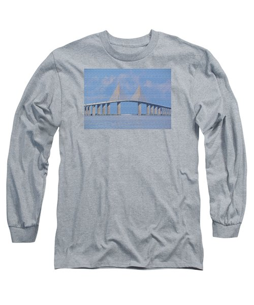 Long Sleeve T-Shirt featuring the photograph Skyway Bridge by Rosalie Scanlon