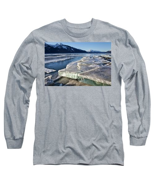 Long Sleeve T-Shirt featuring the photograph Slabs Of Ice by Michele Cornelius