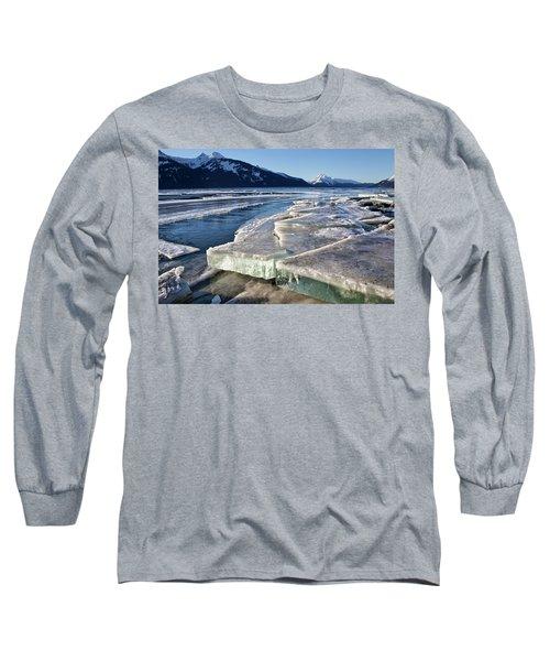 Slabs Of Ice Long Sleeve T-Shirt by Michele Cornelius
