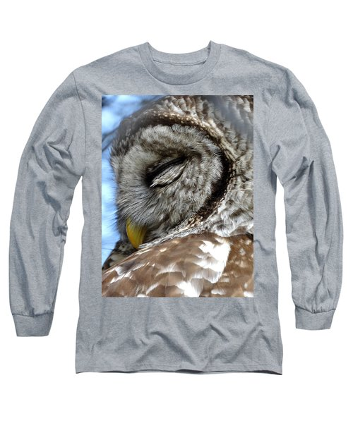 Sleeping Barred Owl Long Sleeve T-Shirt