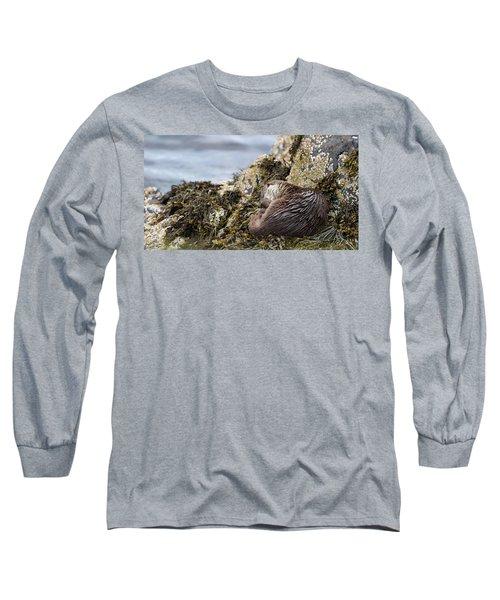 Sleeping Otter Long Sleeve T-Shirt