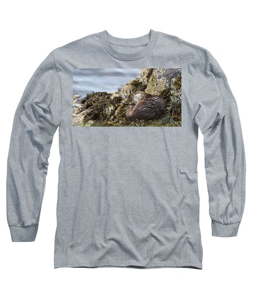 Sleeping Otter Long Sleeve T-Shirt
