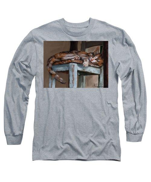 Sleepting Cat Long Sleeve T-Shirt