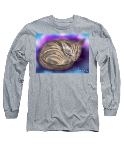 Long Sleeve T-Shirt featuring the painting Sleepy Sam by Nick Gustafson
