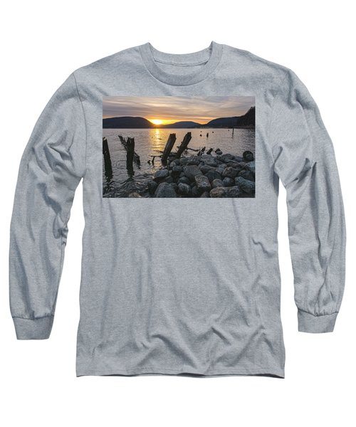 Sleepy Waterfront Dream Long Sleeve T-Shirt by Angelo Marcialis