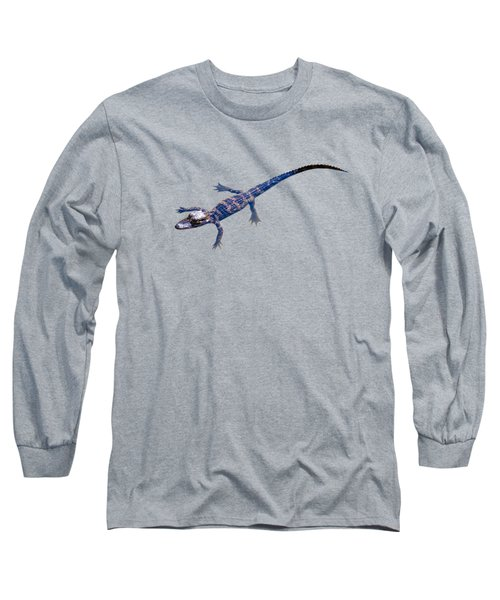 Slightly Waving A Tail. Alligator Baby Long Sleeve T-Shirt by Zina Stromberg