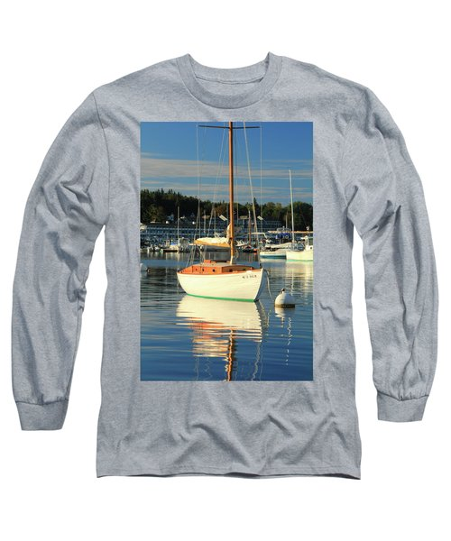 Long Sleeve T-Shirt featuring the photograph Sloop Reflections by Roupen  Baker