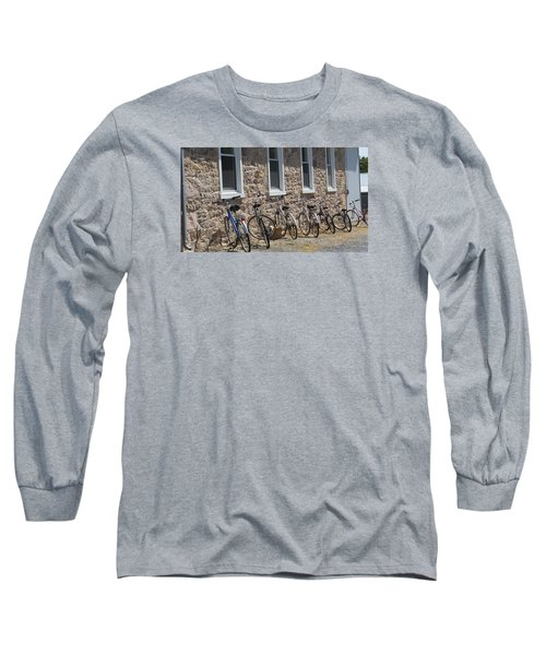 Small Country School Long Sleeve T-Shirt by Jeanette Oberholtzer