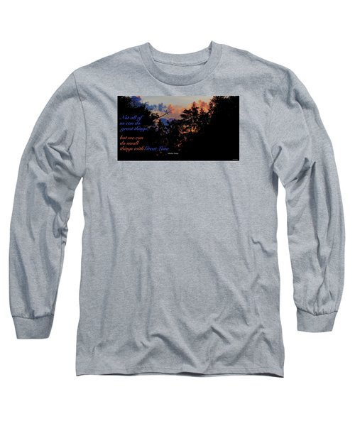 Small Counts Long Sleeve T-Shirt by David Norman
